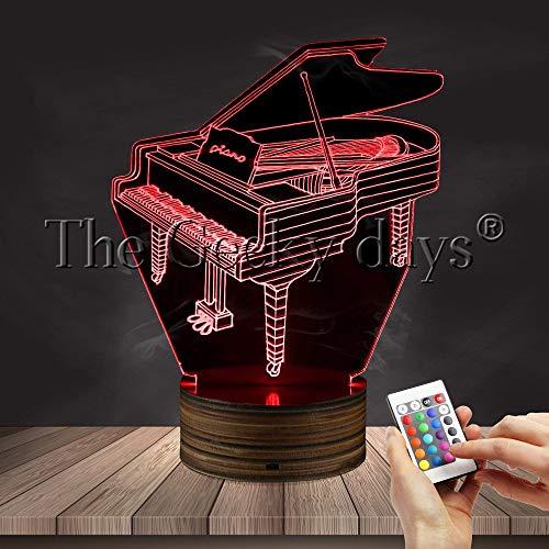 LIX-XYD Umgebungslicht, Nachtlicht der optischen Täuschung 3D, Pianist Stimmungslicht