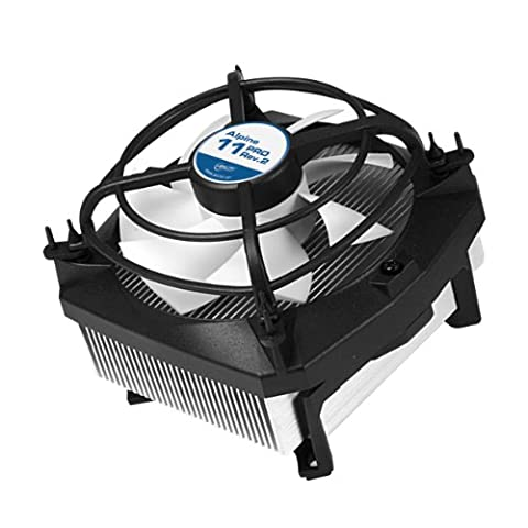 ARCTIC Alpine 11 Pro Rev.2 - 95 Watts Low Noise CPU Cooler for Intel Sockets 1150, 1155, 1156, 775 with Patented Fan Holder -