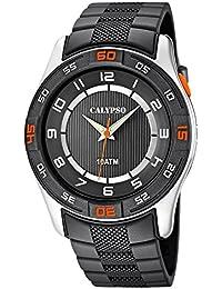 Calypso Watches Herrenarmbanduhr Analoguhr Grau mit Leuchtzeigern K6062/1