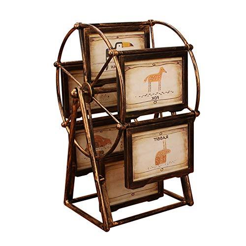AYUE® Riesenrad Bilderrahmen Album 5 Zoll Foto Hochzeit Bilderrahmen Geschenk Kreative Kinder Set Tisch Kombination Persönlichkeit Bronze