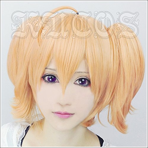 LanTing Cosplay Perücke Aria the Scarlet Ammo Double A Orange 2 Clip Cosplay Party Fashion Anime Human Costume Full wigs Synthetic Haar Heat Resistant Fiber