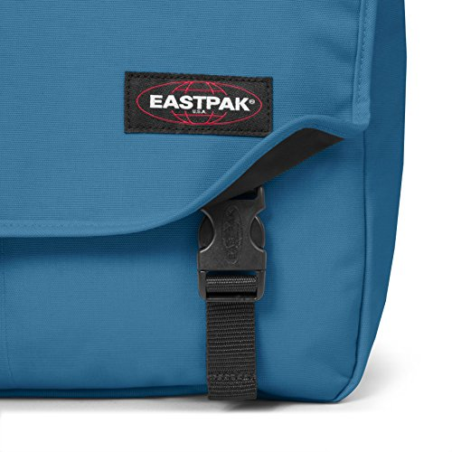 Eastpak Delegate Borsa Messenger, 20 Litri, Nero (Black Clash), 38 cm Blu (Silent Blue)
