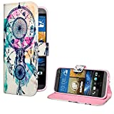 deinPhone HTC One M9 Kunstleder Flip CASE Hülle Tasche Traumfänger