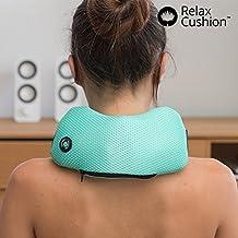 Relax Cushion–El cojín masaje para il Tuo Relax Periódico. idoneo para dolores cervicales, cervical, cuello, Piernas, Brazos y espalda–Masajeador con vibración