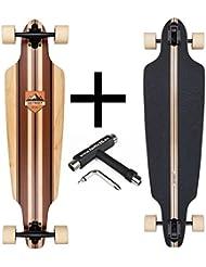 dstreet Drop Through Longboard Stinger + Fan tic26Skate Tool