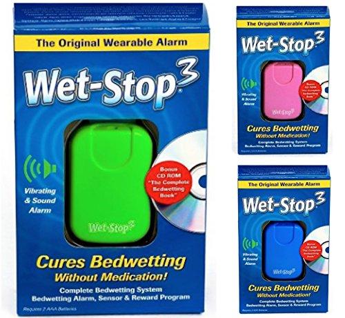 Wet-Stop3 Verdi: Allarme enuresi con Suono and vibrazione per ragazzi e ragazze soluzioni per enuresi (Giacca Ragazzi Sistema)
