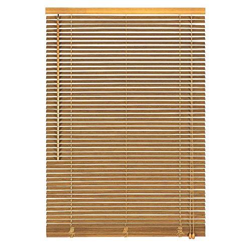 Easy-Shadow Holzjalousie Holz-Jalousie Bambus Jalousette Echtholz Rollo Jalousette 90 x 110 cm / 90x110 cm in Farbe natur - Bedienseite rechts // Maßanfertigung