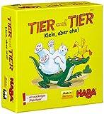 Haba 4911 - Tier auf Tier Klein, aber oho, wackliges Stapelspiel für 2 Spieler ab 5 Jahren, Reise- und Mitbringspiel mit einfachen Spielregeln