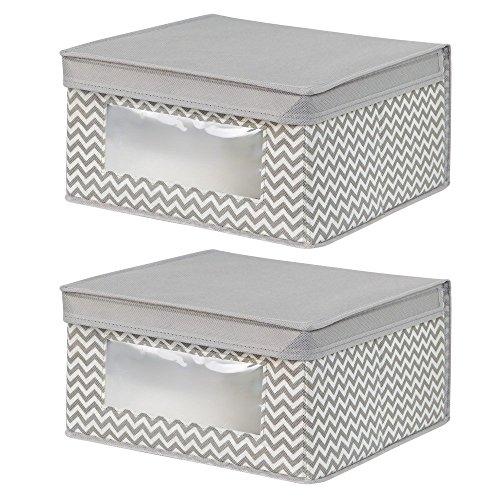 interdesign-chevron-fabric-closet-organizer-storage-medium-box-2-piece-set-taupe-natural