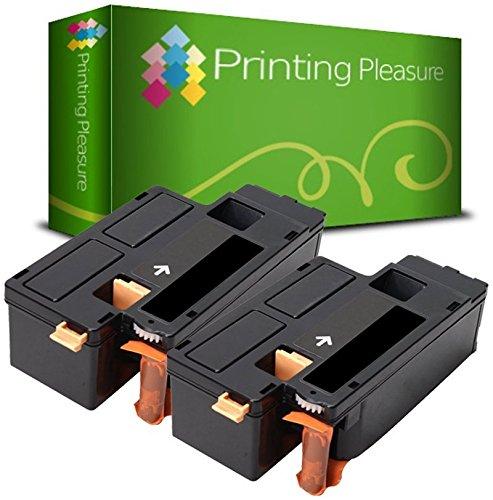 Printing Pleasure 106R01630 Kit 2 Toner Compatibili per Xerox 6000/6010/6015, Nero, 2 Pezzi