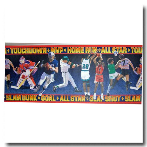 Sports Prepasted Vinyl Wall Border by Brewster Home Fashions -