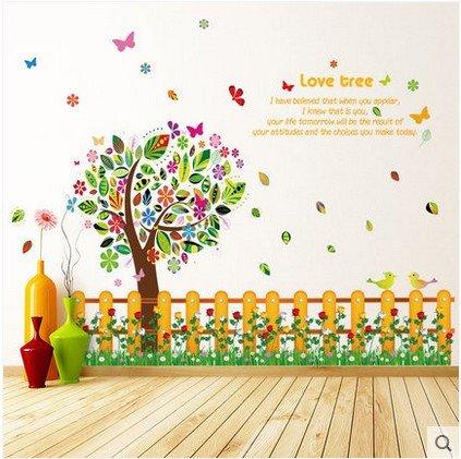 HL-PYL Tapeten, Selbstklebende Wand Aufkleber, Schlafzimmer, Schlafzimmer, Wohnzimmer, Hintergrund, Wand - Dekoration Aufkleber, Warme Bunte Bäume, Tapeten, Wasserdicht