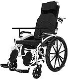 Transport Rollstühle Sport und Freizeit Transport Rollstühle Aluminiumlegierung Stoßdämpfer Flucht Stuhl Trolley Behinderte Ältere Fahren Folding Licht Tragbare mit Esstisch Bär 120kg leichten forcier -