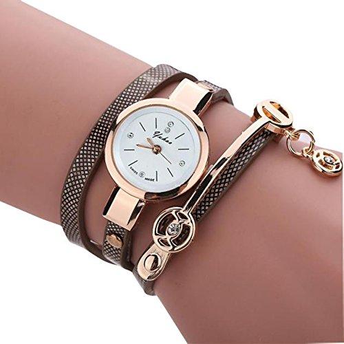 Sonnena Unisex Armbanduhren, Mode Ultra-Flach Metallband Armbanduhr Damenuhr Lederband Uhren Wrist Watch Frauen Outdoor Klassik Analoge Quarz Armband Handgelenk Uhr (Marine)