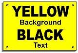 """Design rétro maison compatible pour plaque étanche 9137 Imprimé personnalisé avec numéro ou adresse 20cm x 30cm approx 8"""" x 12"""" Dilite 3mm Black on Yellow"""