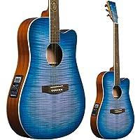 Lindo BTC Bitcoin Slim Body Electro - Guitarra acústica con preamplificador F-4T, ecualizador