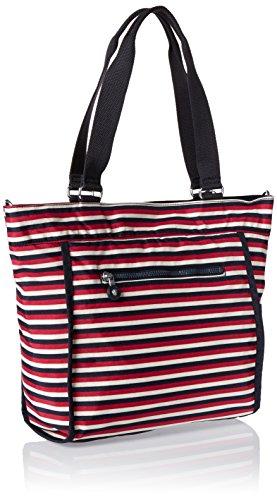 Kipling - New Shopper S, Borse Tote Donna Multicolore (Sugar Stripes)