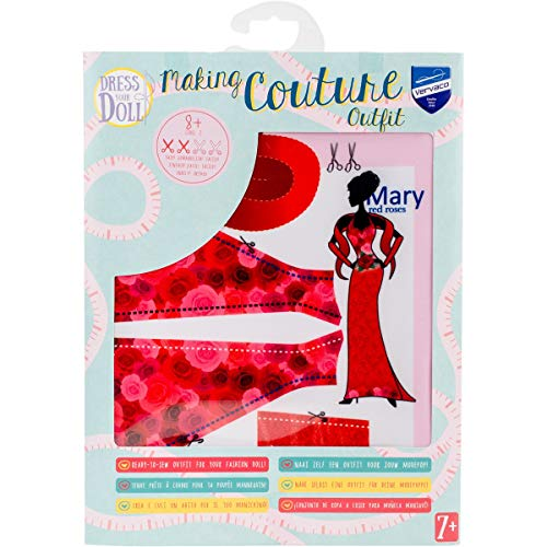 Vervaco Dress Your Doll 31 x 24 x 1 cm Synthetic Fiber Multi-Colour
