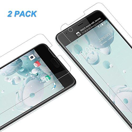 Verre Trempé HTC U Ultra, Vkaiy Film Protection Écran en Verre Trempé Écran Protecteur Vitre, Sans Bulles D'air, HD Ultra Transparent, Dureté 9H pour HTC U Ultra, Lot de 2