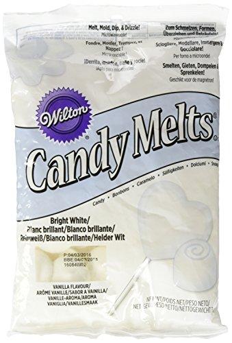 Wilton Candy Melts Schokolade, hellweiß, 1er Pack (1 x 340 g)