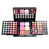 Pro Make-Up Set 78 Farben 48 Lidschatten 24 Lip glanz 6 Stiftung Face Powder Blush Kosmetik Kit