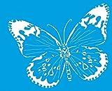 21cm x 17cm Flexibel Kunststoff Universal Schablone - Wand Airbrush Möbel Textil Decor Dekorative Muster Design Kunst Handwerk Zeichenschablone Wandschablone - Schmetterling