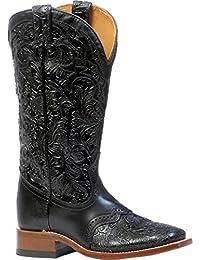 Botas de los EE.UU.-Botas western BO-4311-65-C (pie normal) para mujer, color negro