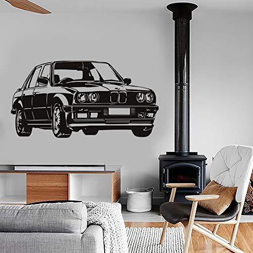 Deutsch luxus limousine auto vinyl wandaufkleber wandbild für kinderzimmer abnehmbare dekoration fahrzeug wandtattoo schlafzimmer kindergarten wohnkultur poster 57 * 107 cm
