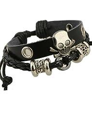 A Bracelet En Cuir Ajustable En Alliage De Zinc En Alliage De Zinc