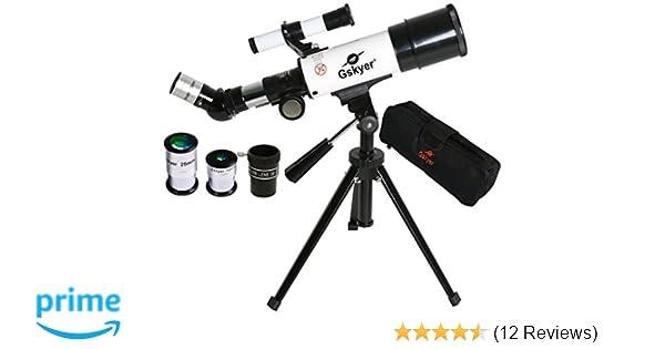Gskyer telescope mm aperture mm az travel refractor