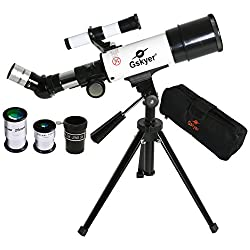 Gskyer Telescope, 60mm Aperture 350mm AZ, Astronomy Refractor Telescope with Smartphone Adapter and Bluetooth Camera Remote - Good Partner to View Moon and Planet for Kids and Beginners