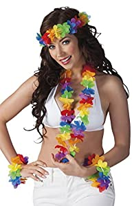 Boland-Set Hawaii 1guirnalda, 1collar, 2pulseras, multicolor Arcoíris (multicolor) Unica multicolor
