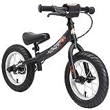 BIKESTAR Corsa Bici Senza Pedali con Sidestand e Freno per Bambini a Partire da 3Anni | 30,5cm Sport Edition | Nero (Opaco)