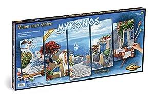 noris 609450797Pintura guiada por números de Mykonos, 132x 72cm
