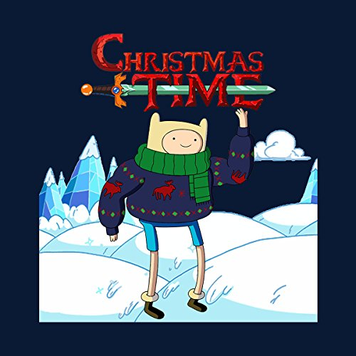 Adventure Christmas Time Finn Ice World Cartoon Network Women's Vest Navy blue