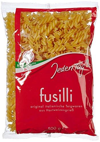 Jeden Tag Fusilli Hartweizen-Nudeln, 18er Pack (18 x 500 g)