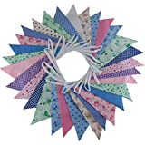 Flyingstart 10m Floral Mix - double sided fabric bunting