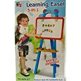 House of Gifts 3 in 1 Educational Magnetic White Chalk Board Learning Easel for Kids 84 Pcs