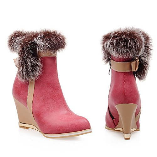 Wedges TAOFFEN Fermeture Mode Eclair Femmes red Bottes OHqE0Hw