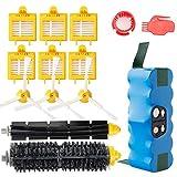 efluky 4,0Ah batería de Repuesto para irobot roomba + Kit cepillos repuestos de Accesorios para iRobot Roomba Serie 700 720 750 760 770 772e 776 776p 780 782e 786 786p 790 - un Conjunto DE 14