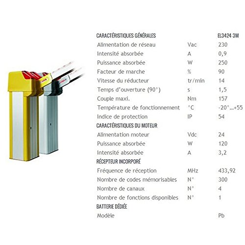 CARDIN-BARRERA GRIS ELECTROMECANICO 24 V LISA CON MOTOR DE 3/4-710EL3424E CARDIN ML