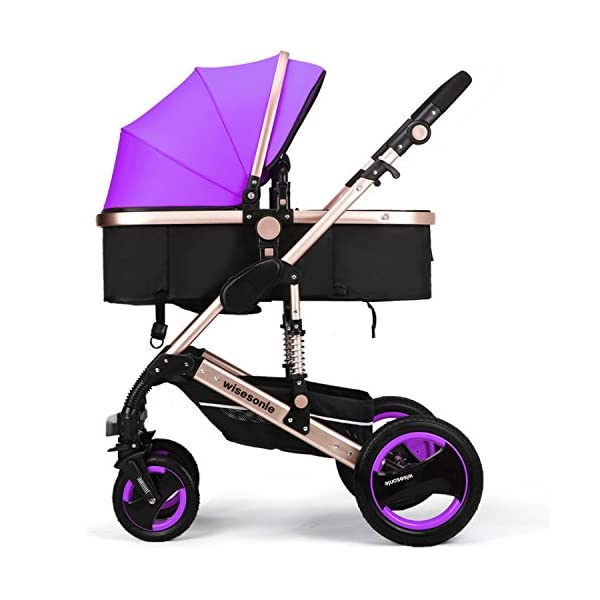wiseson four tires do not need to inflatable strollers 2016 Stroller Travel System stroller size 85 * 41 * 115 cm leadership khaki dark blue pink purple blue  Very stable tires Light alluminium chassis More space 1