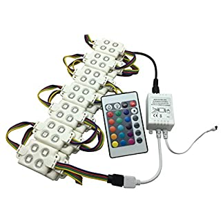 YXH ® LED module 12V 5050 RG Injection Module kit 18 W letter Sign Billboard light, DIY indoor outdoor Waterproof IP65 (with remote controller)