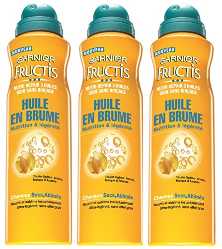 Garnier - Fructis Nutri Repair 3 - Huile en spray Cheveux abîmés - Lot de 3