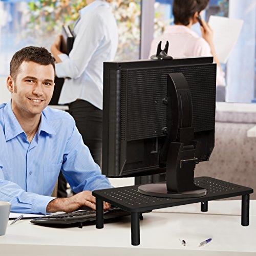 NOVAATO Premium Monitorständer - stabiler Bildschirmständer, platzsparend Design und Höhenverstellbarkeit sorgen für die ideale Monitor Höhe - 2