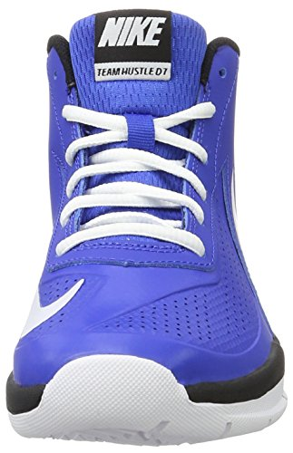 Nike Team Hustle D 7 (Gs), espadrilles de basket-ball garçon Azul (Game Royal / White-Black)