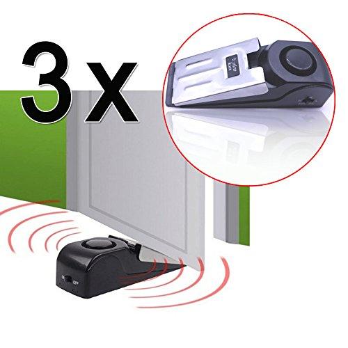 Preisvergleich Produktbild EMOTREE 3 x Türalarm Türstopper Haus Doorstopper Haustüralarm Türsichrung 120dB Alarmanlage Haustür Haussicherung