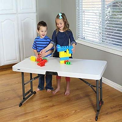 Lebenslange Vierfußgehstütze (122x 61cm) zusammenklappbar, rechteckige Tisch mit verstellbarer Höhe
