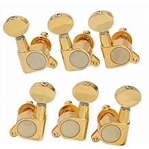 Dorado 3R3L guitarra cuerdas Clavijas de afinación Machine Heads Sintonizadores reemplazos para Fender y guitarra Gibson