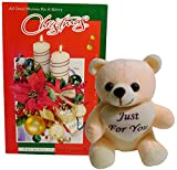 #4: christmas gifts for wife - christmas greeting card with soft teddy